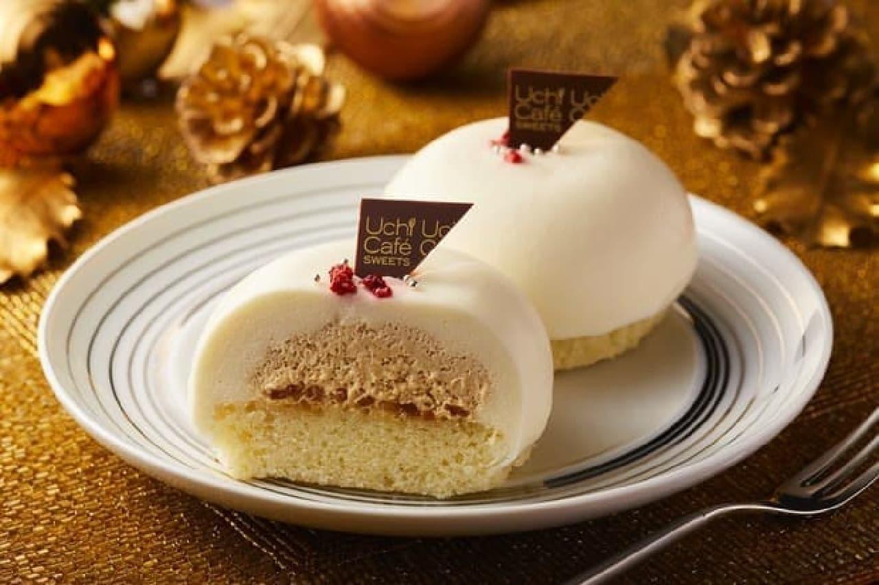 ローソン 白いクリスマスケーキ(ホワイトチョコレート&プラリネクリーム)