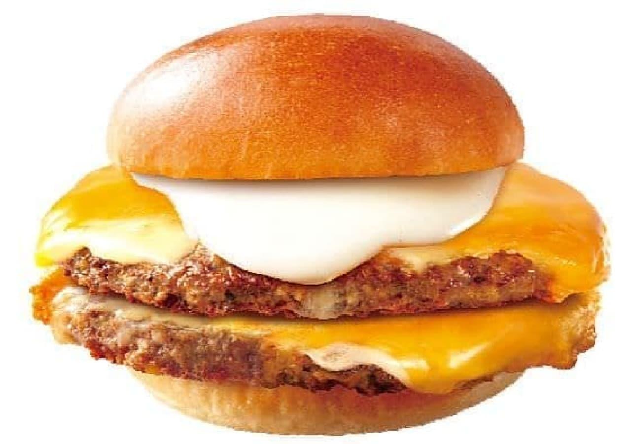 ロッテリア「チーズフォンデュ仕立ての肉 がっつりダブル絶品チーズバーガー」