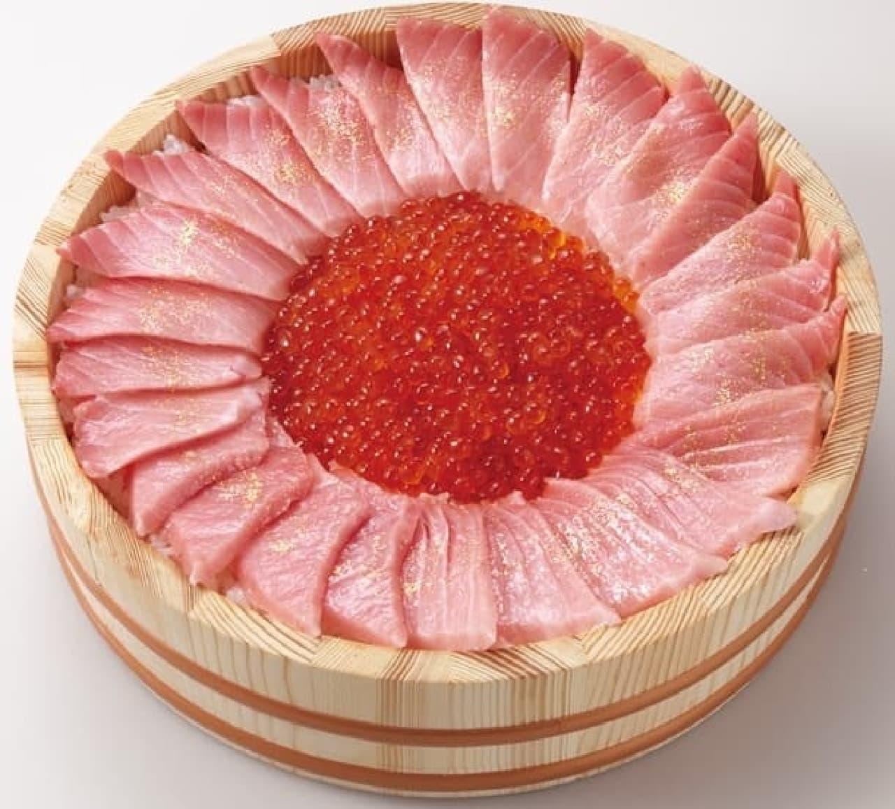 かっぱ寿司「至極の大桶SUSHI CAKE(すしケーキ)」
