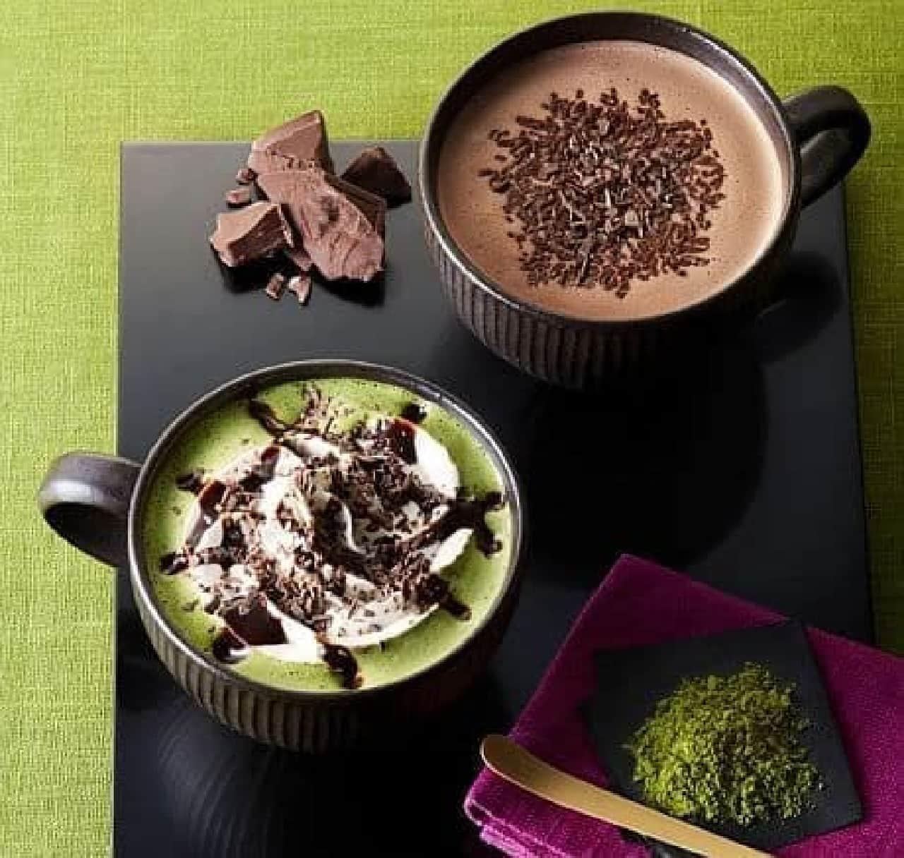 タリーズコーヒー「チョコレート&抹茶モカ」と「チョコリスタ」