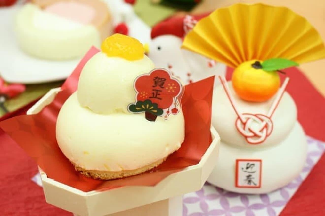ローソン「鏡もち風ムースケーキ」