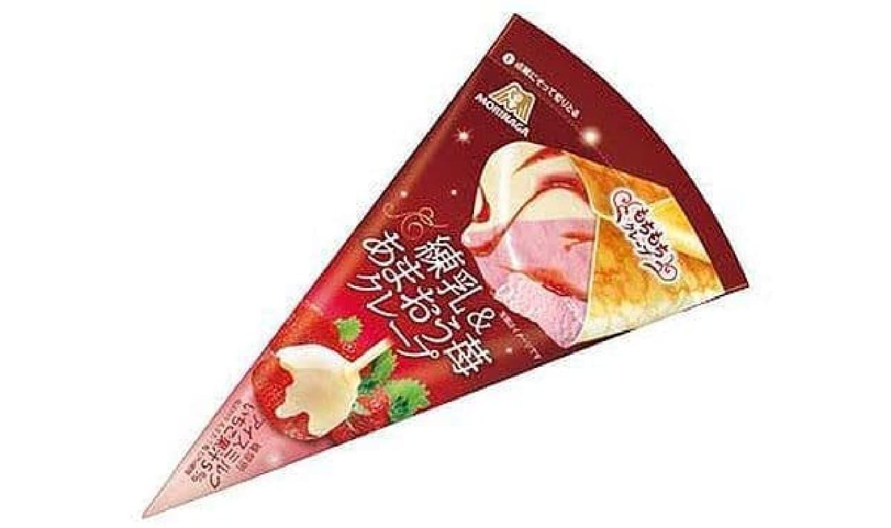 森永製菓「練乳&あまおう苺クレープ」