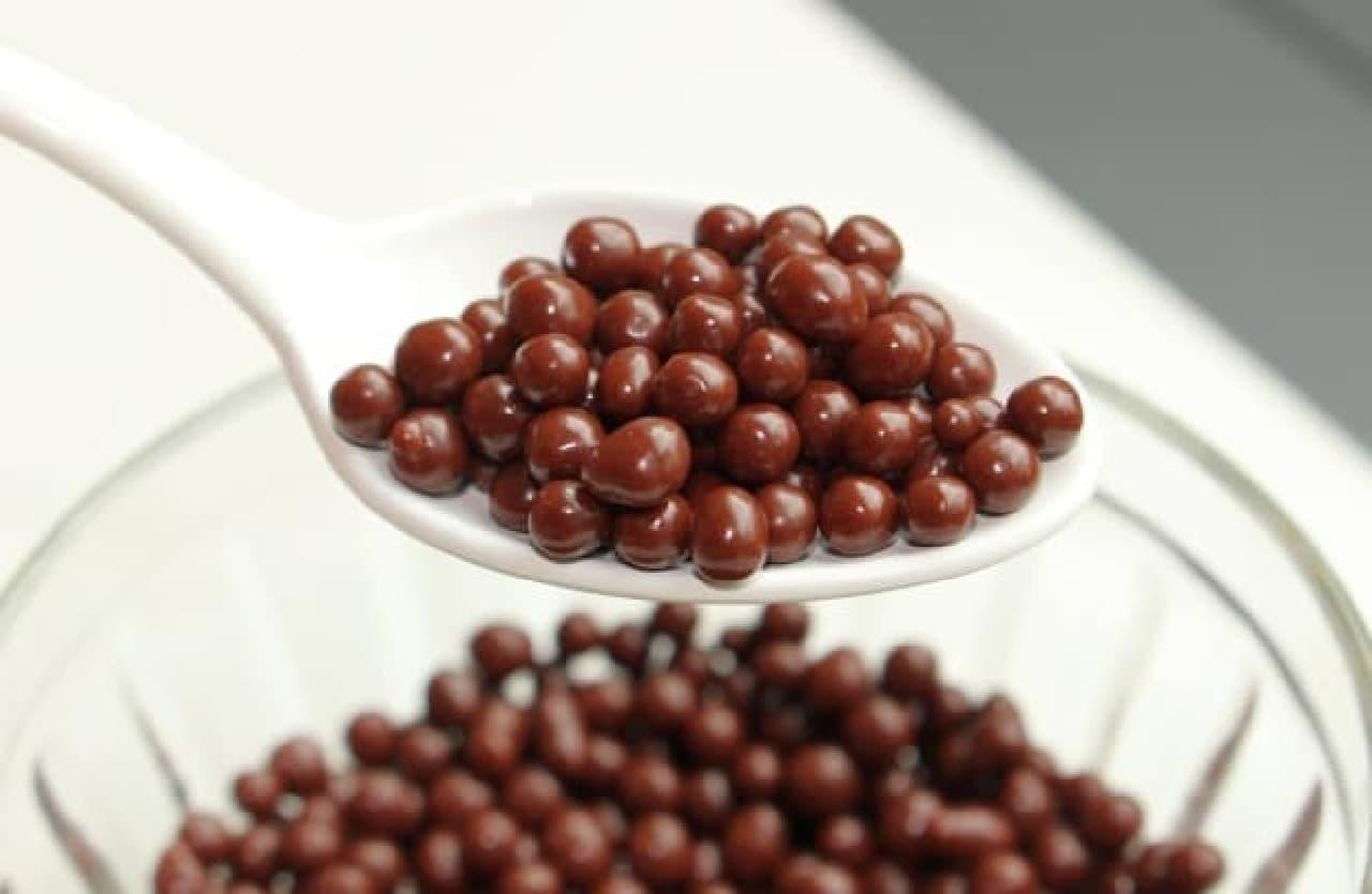 スターバックス「チョコラティ バナナ ココ フラペチーノ」 小麦チョコレートパフ