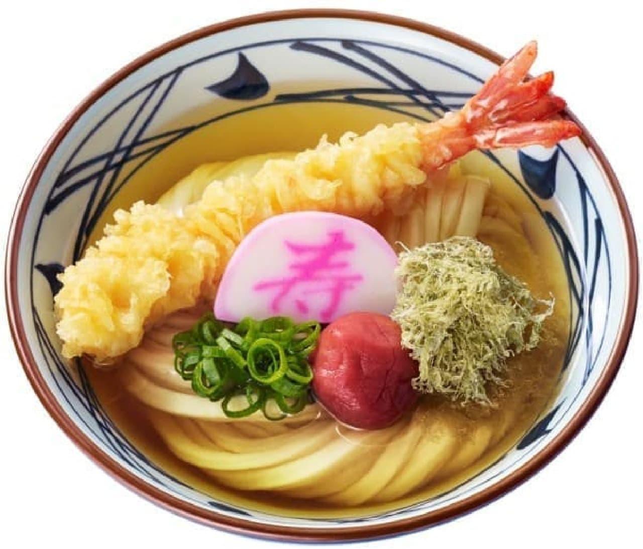 丸亀製麺「大海老うどん」