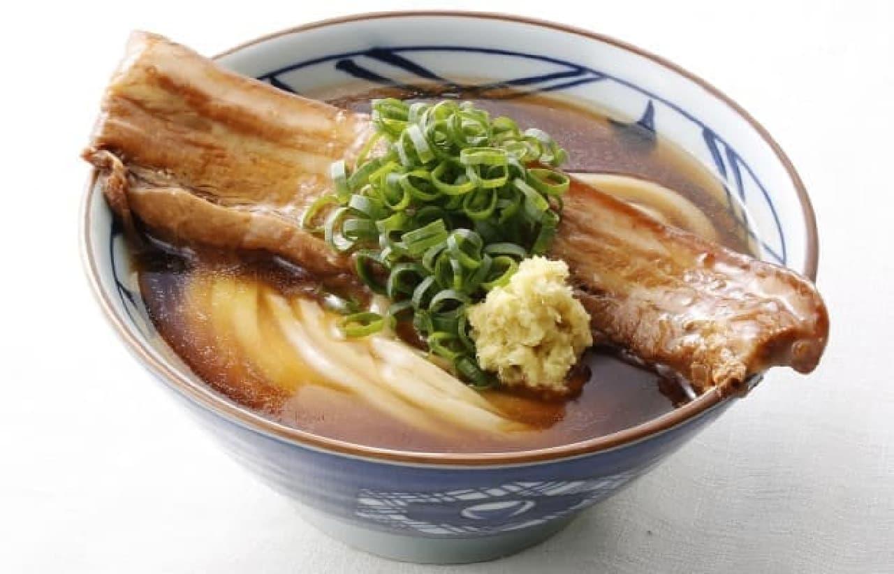 丸亀製麺「年明け ラフテーうどん」