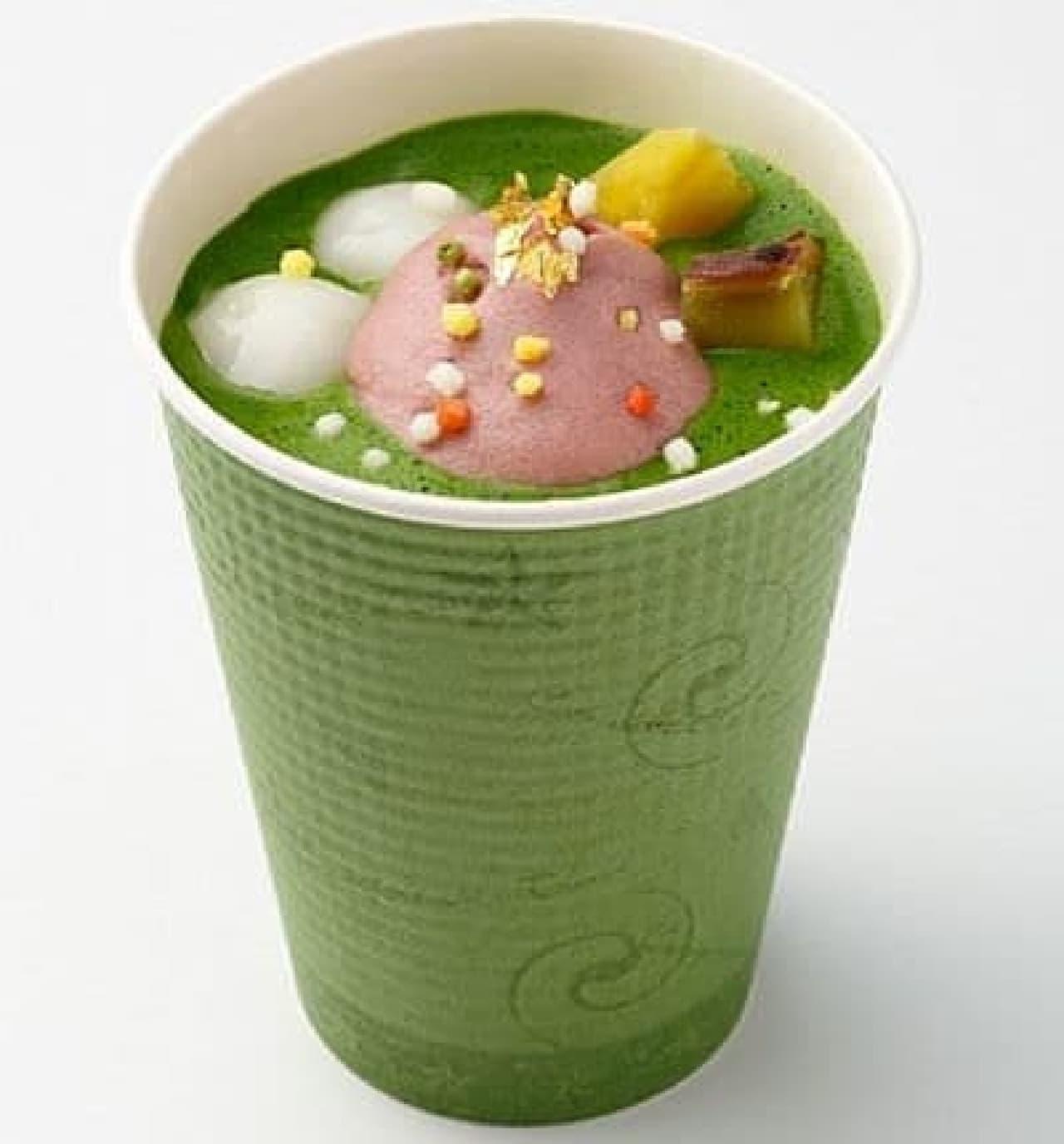 祇園辻利ソラマチ店「抹茶ぜんざい」