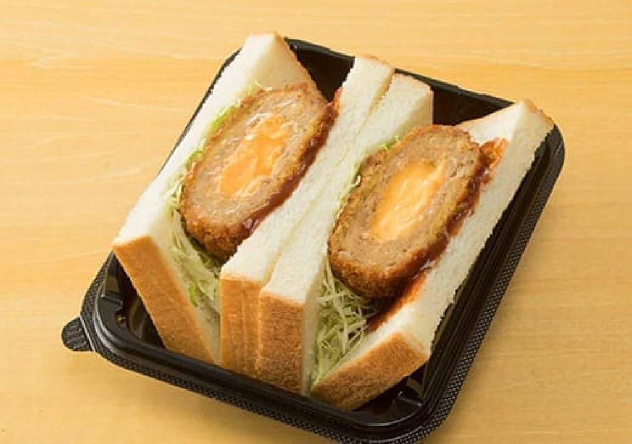 ローソン「北海道チーズのメンチカツサンド