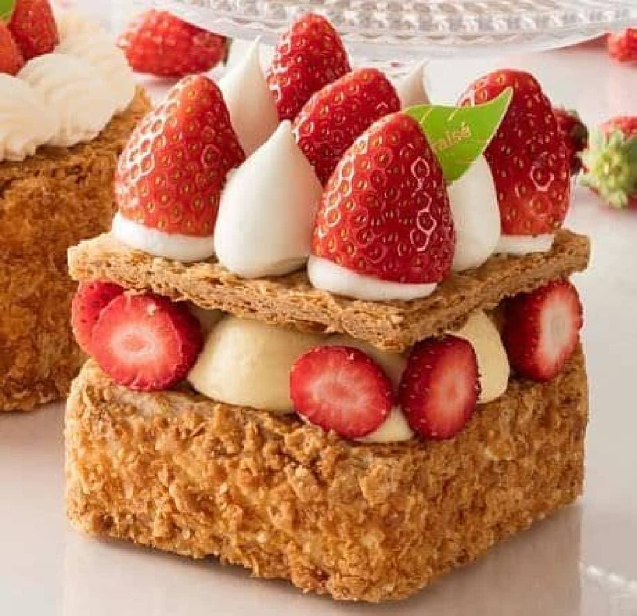 シャトレーゼ「とちおとめ種苺使用 バター香るナポレオンパイボックス」