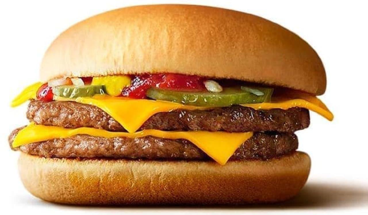 マクドナルド「ダブルチーズバーガー」