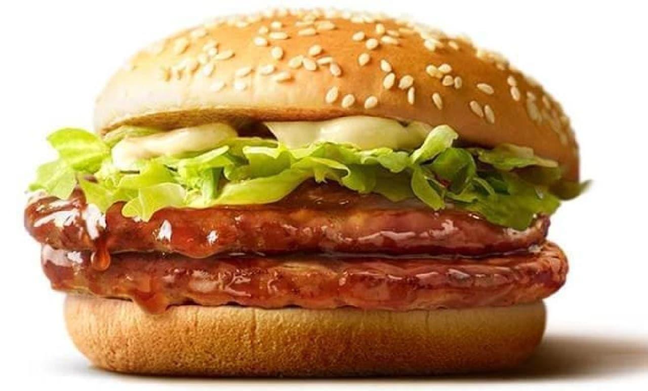 マクドナルド「ダブルてりやきマックバーガー」