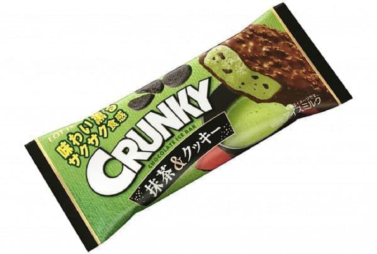 ロッテアイス「クランキーアイスバー 抹茶&クッキー