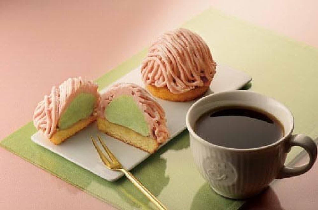 「桜と抹茶のモンブラン」カフェ・ド・クリエ