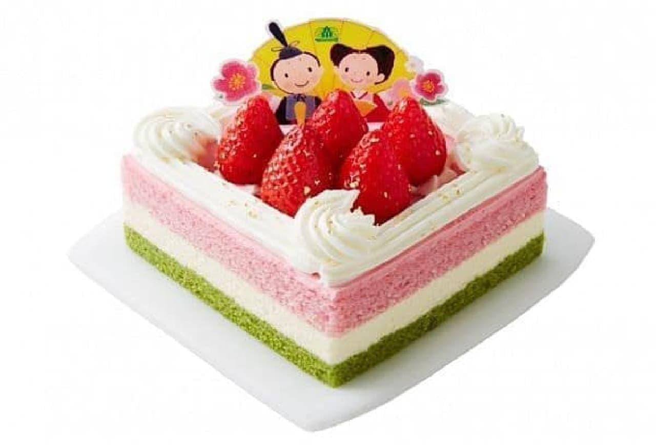 モロゾフ「ひなまつり いちごのおひなさまケーキ」