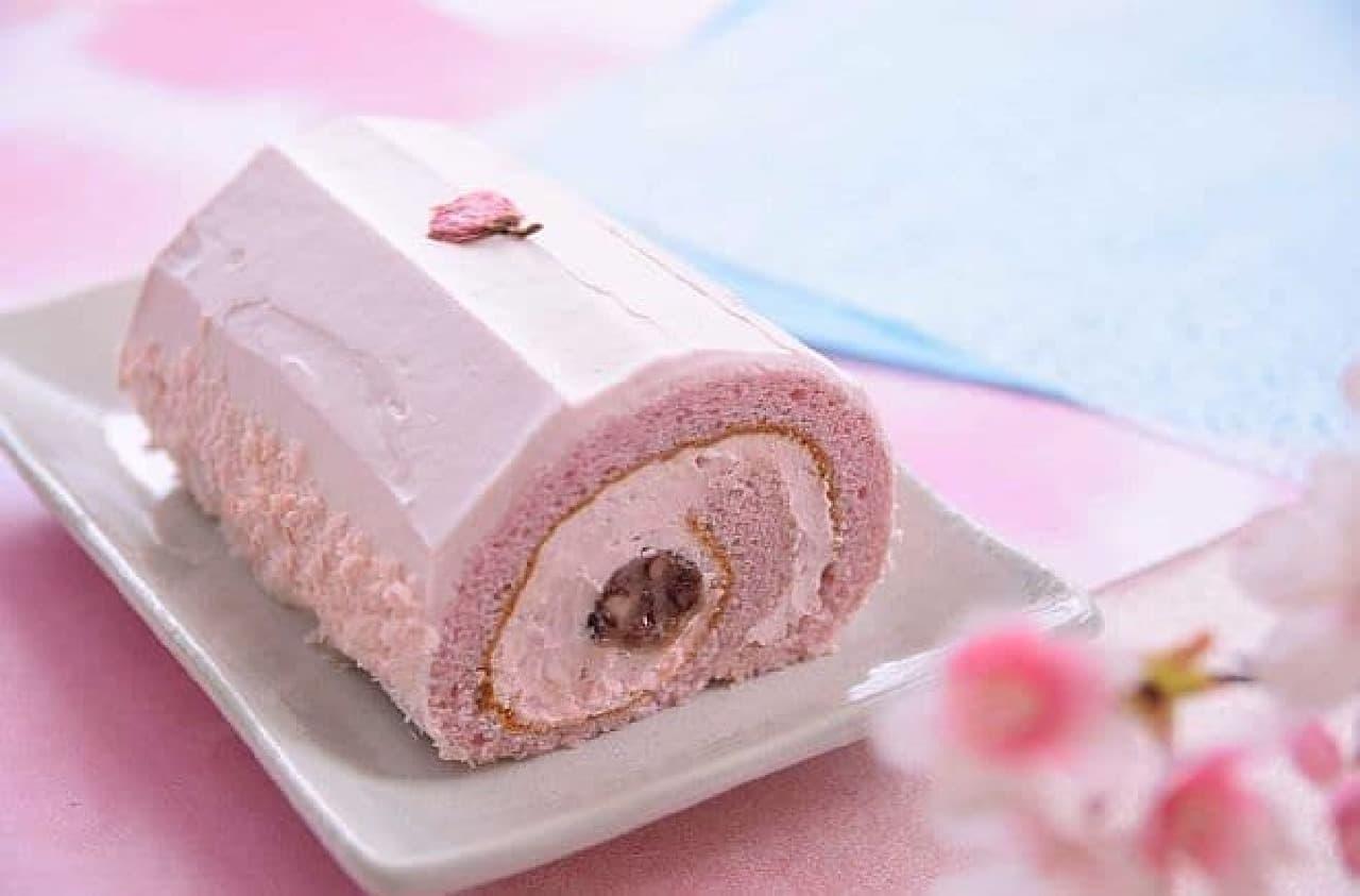 治一郎「桜のロールケーキ」