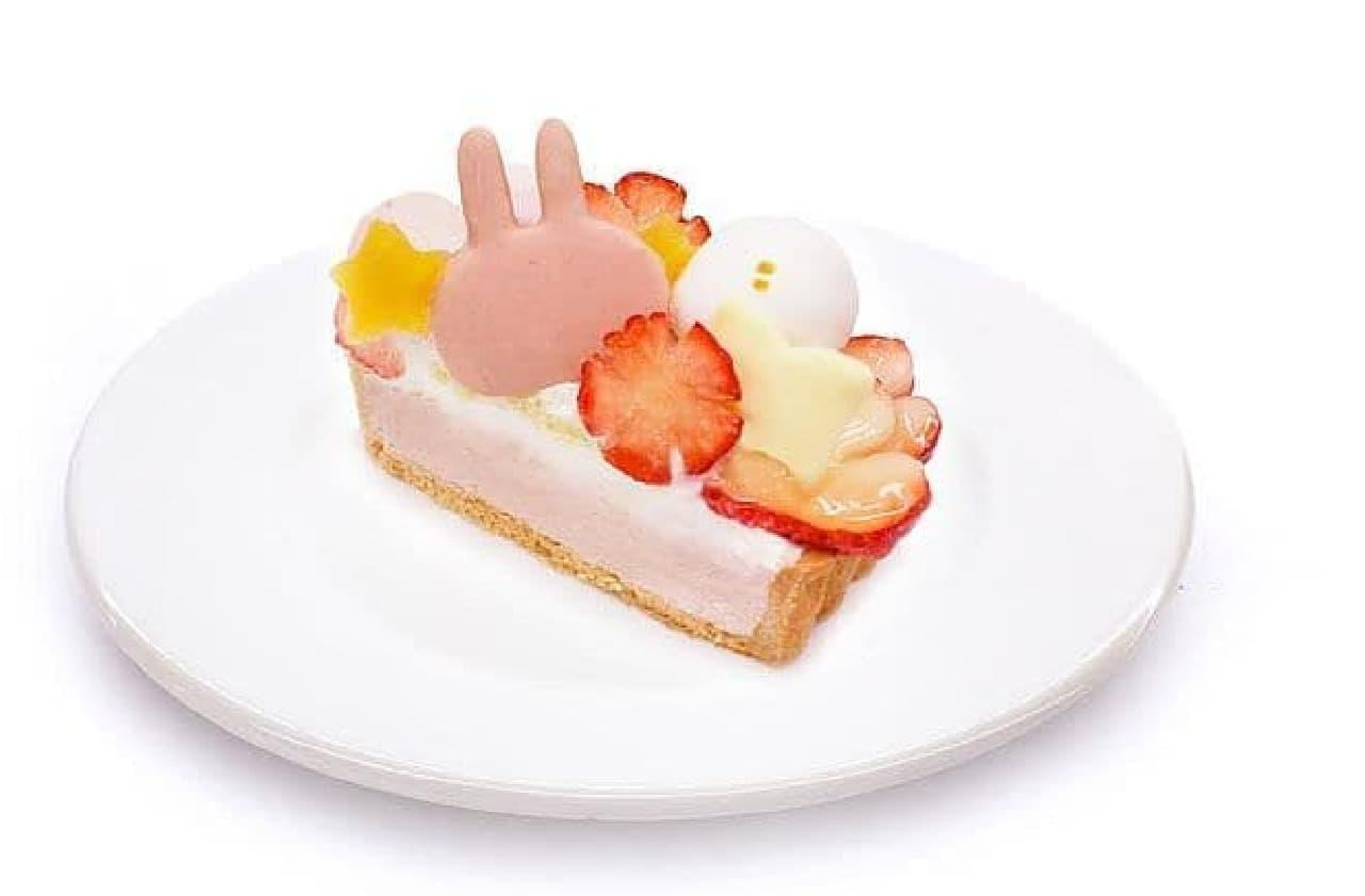 カフェコムサ「ピスケとうさぎのケーキ」