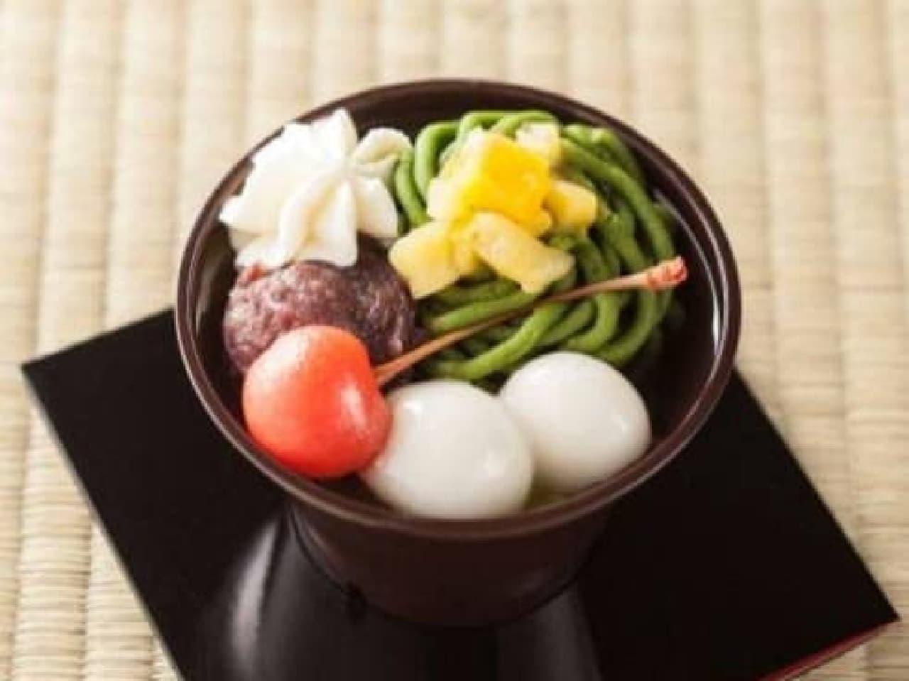 セブン-イレブン「宇治抹茶と黒糖寒天の和ぱふぇ」