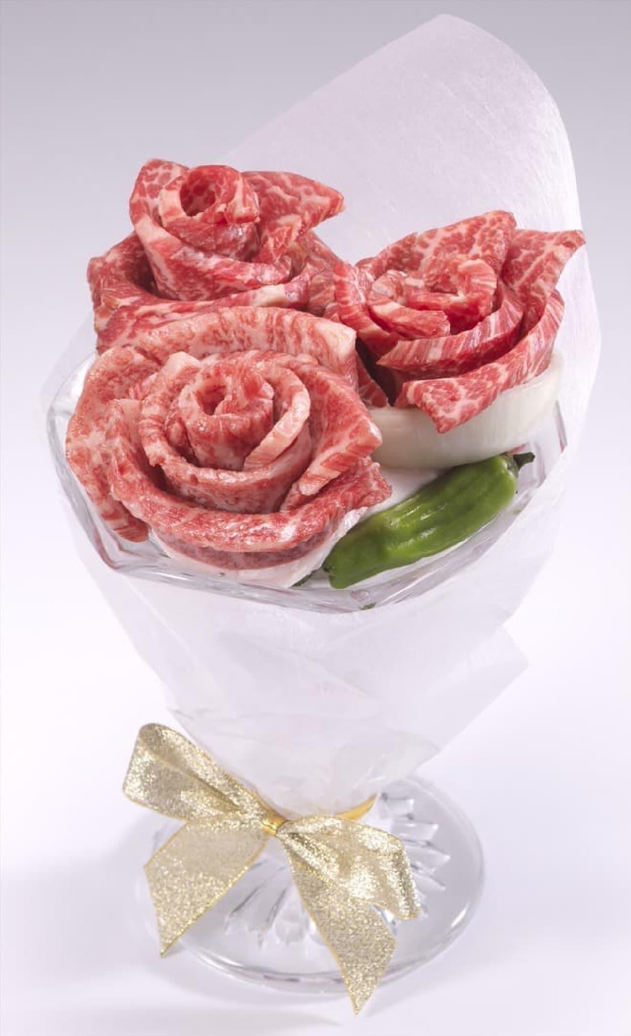 牛角 お祝い肉ブーケ