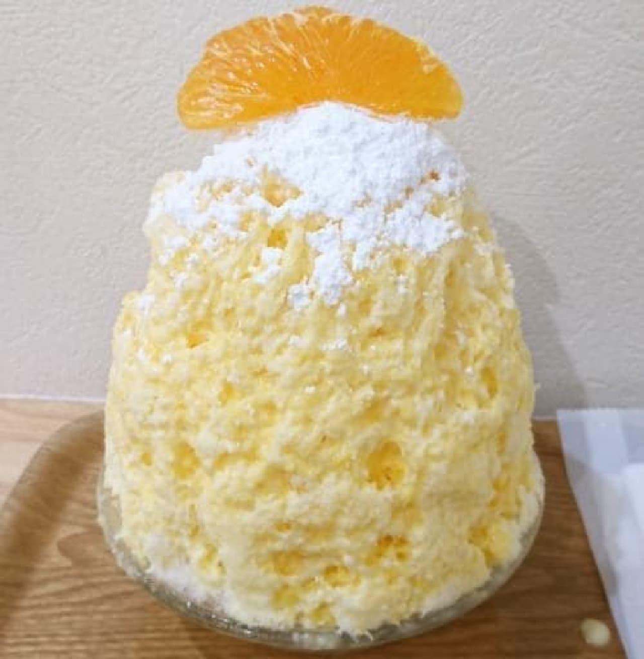 かき氷工房 雪菓「オレンジレアチーズ」