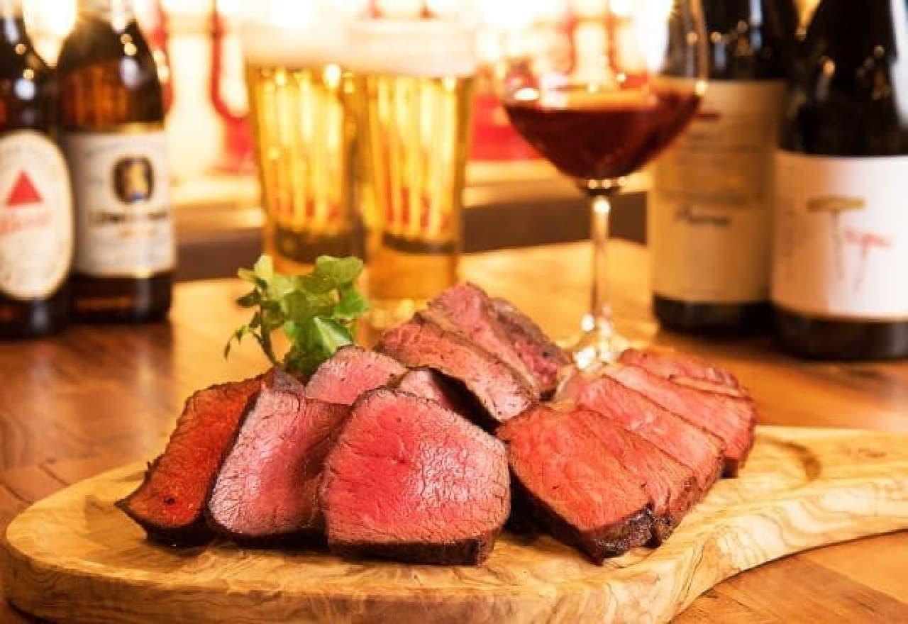 ランプキャップ ステーキとワイン、ビール