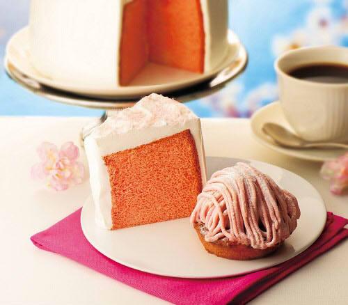 カフェ・ド・クリエに「さくらのシフォンケーキ」など