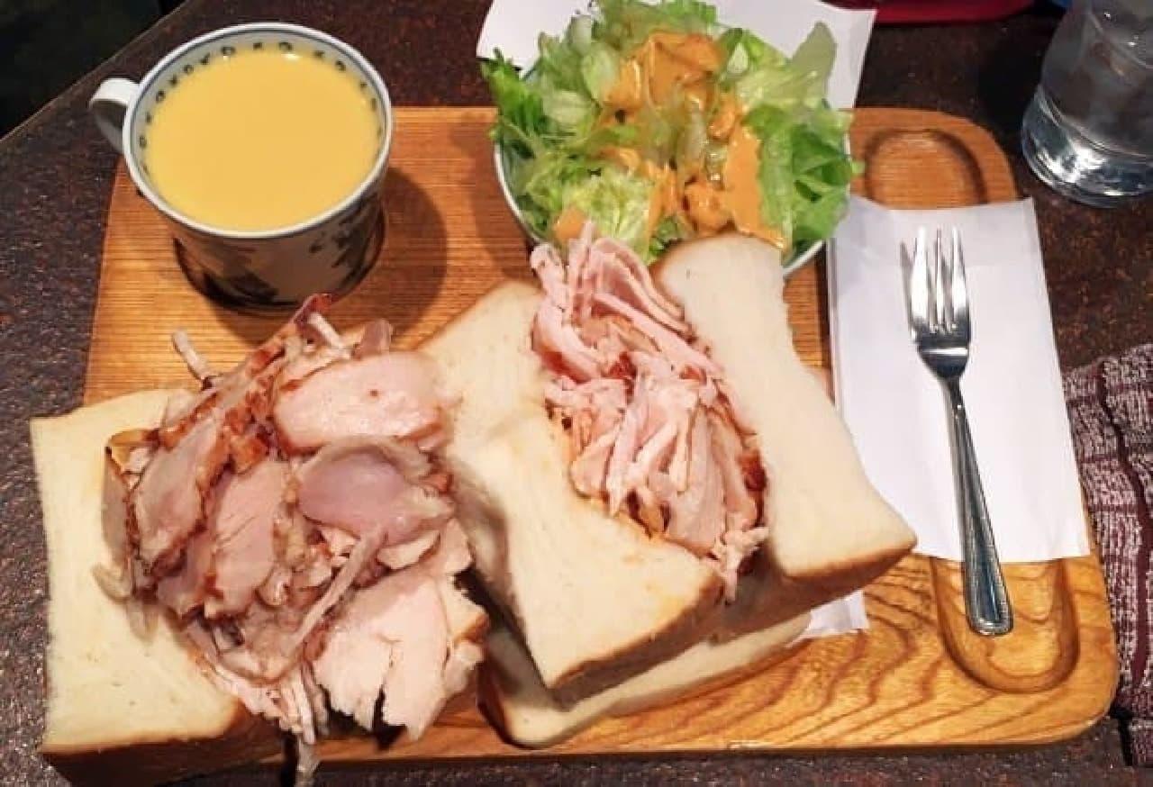 アメリカン「サンドイッチセット」