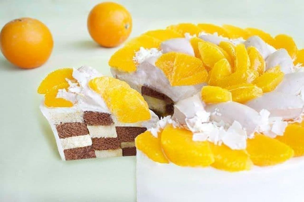 """カフェコムサ「""""ネーブルオレンジ""""とチョコレートのケーキ」"""