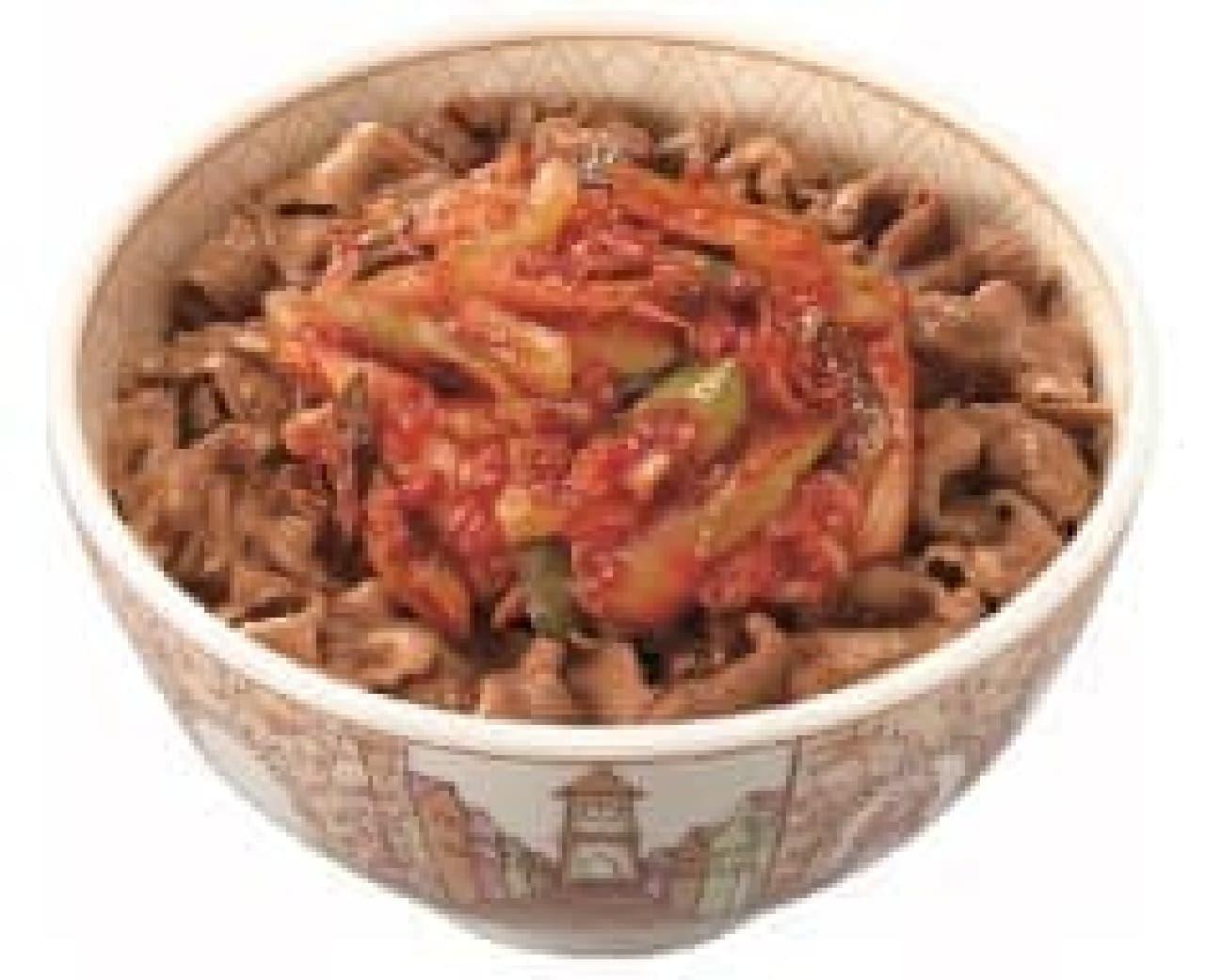 すき家「ねぎキムチ牛丼」
