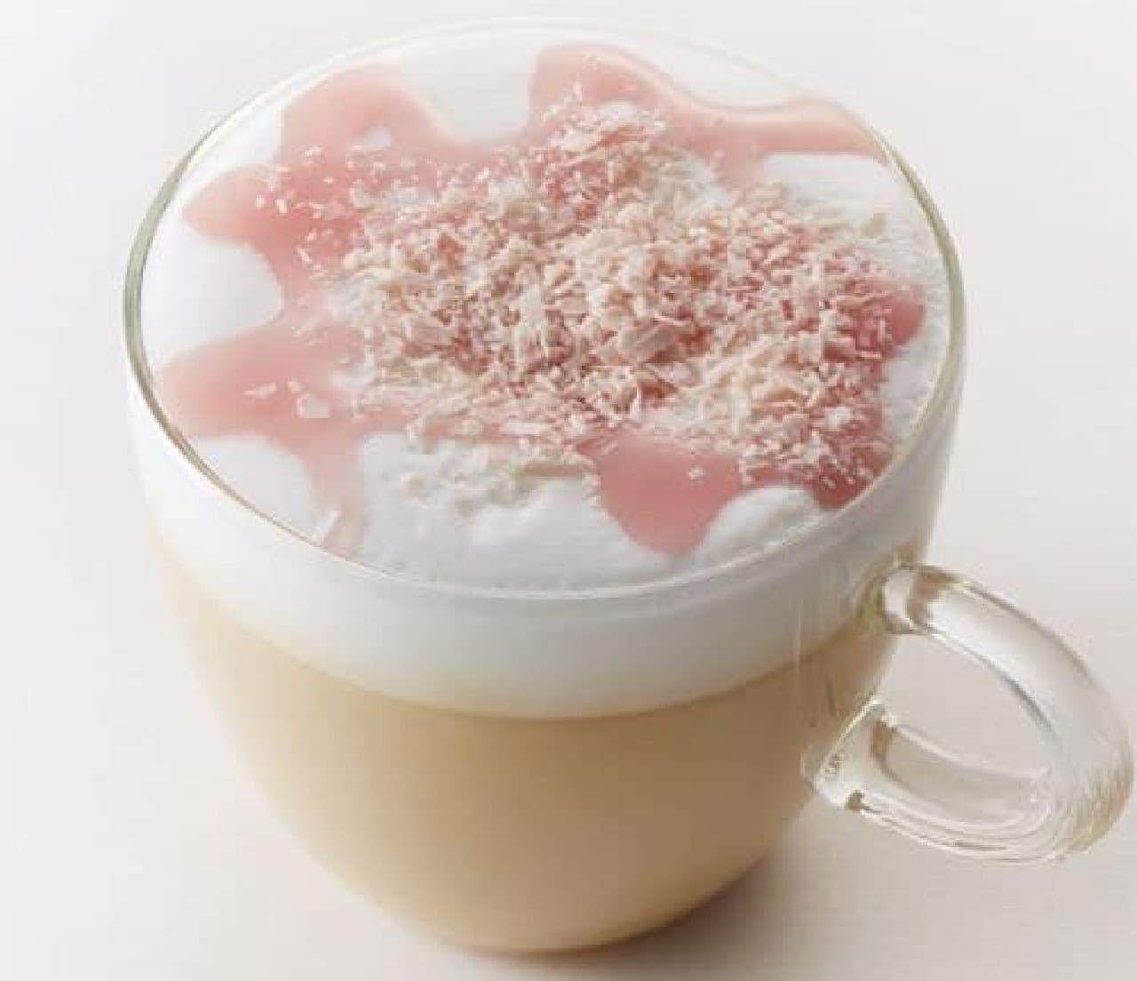 タリーズコーヒー「SAKURA ティーカプチーノ」