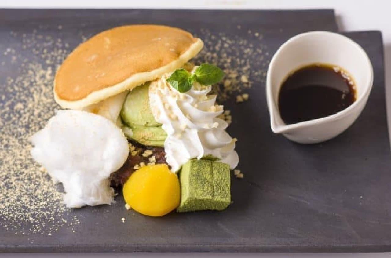 kawara CAFE&DINING「甘栗とわらび餅のどらサンド」