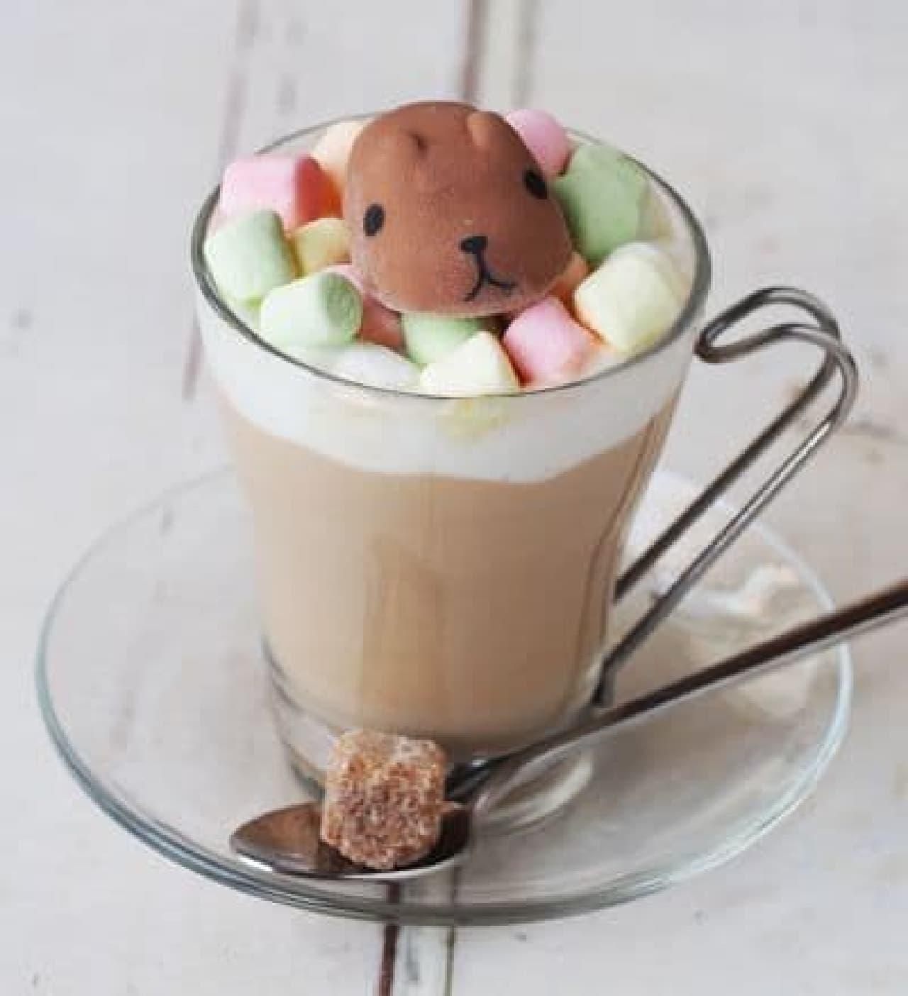KAPIBARASAN×HANDS CAFE「カピバラさんのましゅまろ~んカフェオレ」