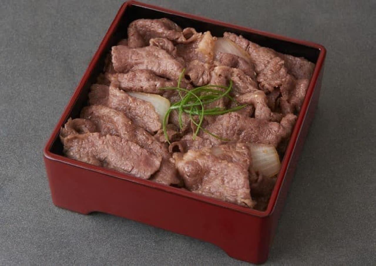 銀座大食堂 すき焼き 牛しゃぶ 松重 「松阪牛 すき焼き重(上)」