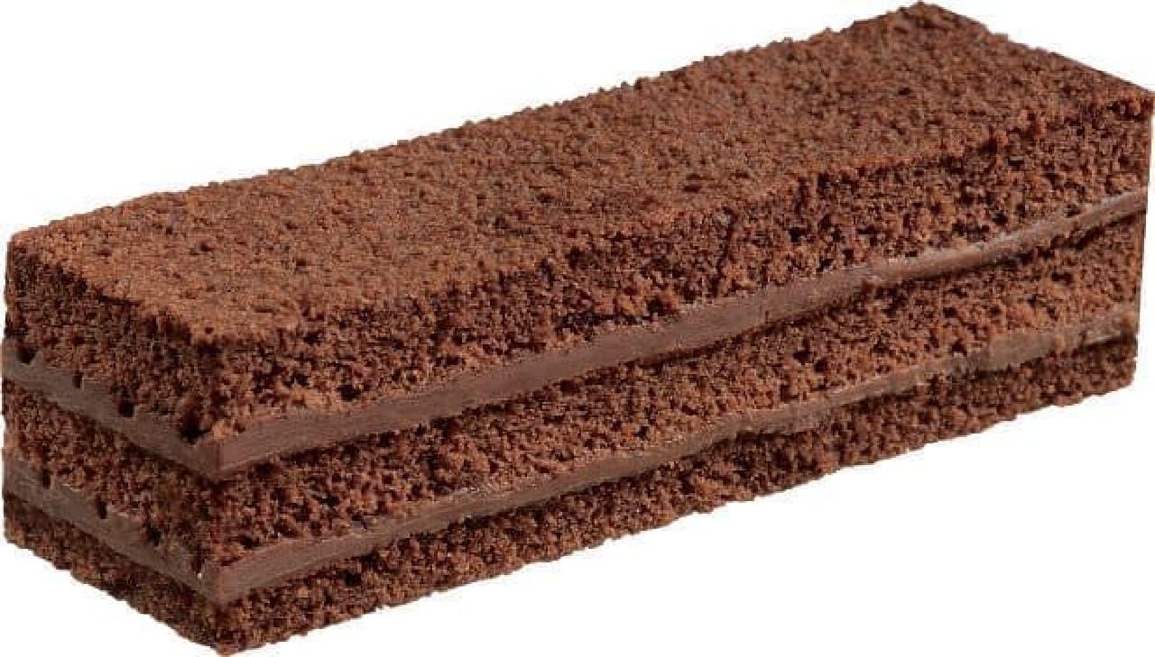 ブルボン「ふんわりチョコケーキミルクチョコ」