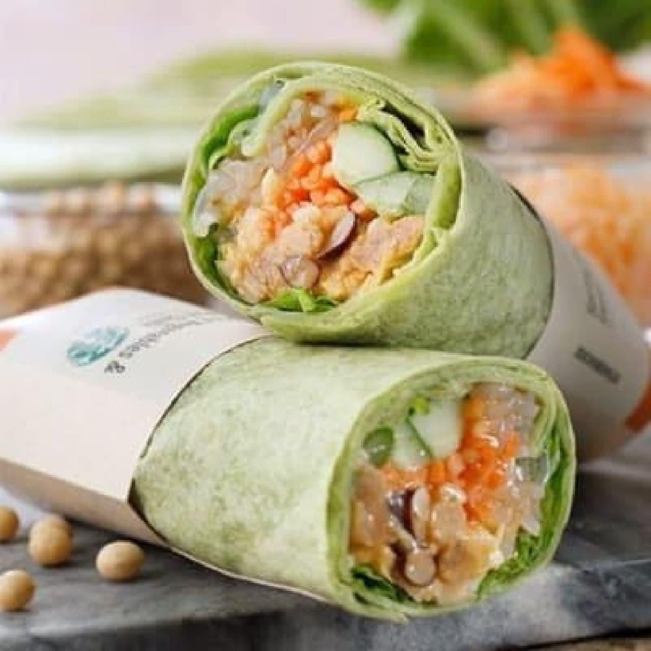 スターバックス「サラダラップ 春野菜&スイートチリ」