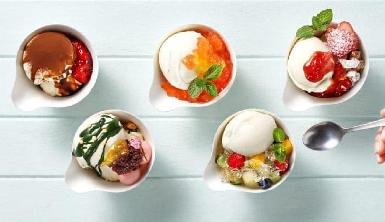 napoli(ナポリ)広尾店「Craft icecream(クラフトアイスクリーム)」