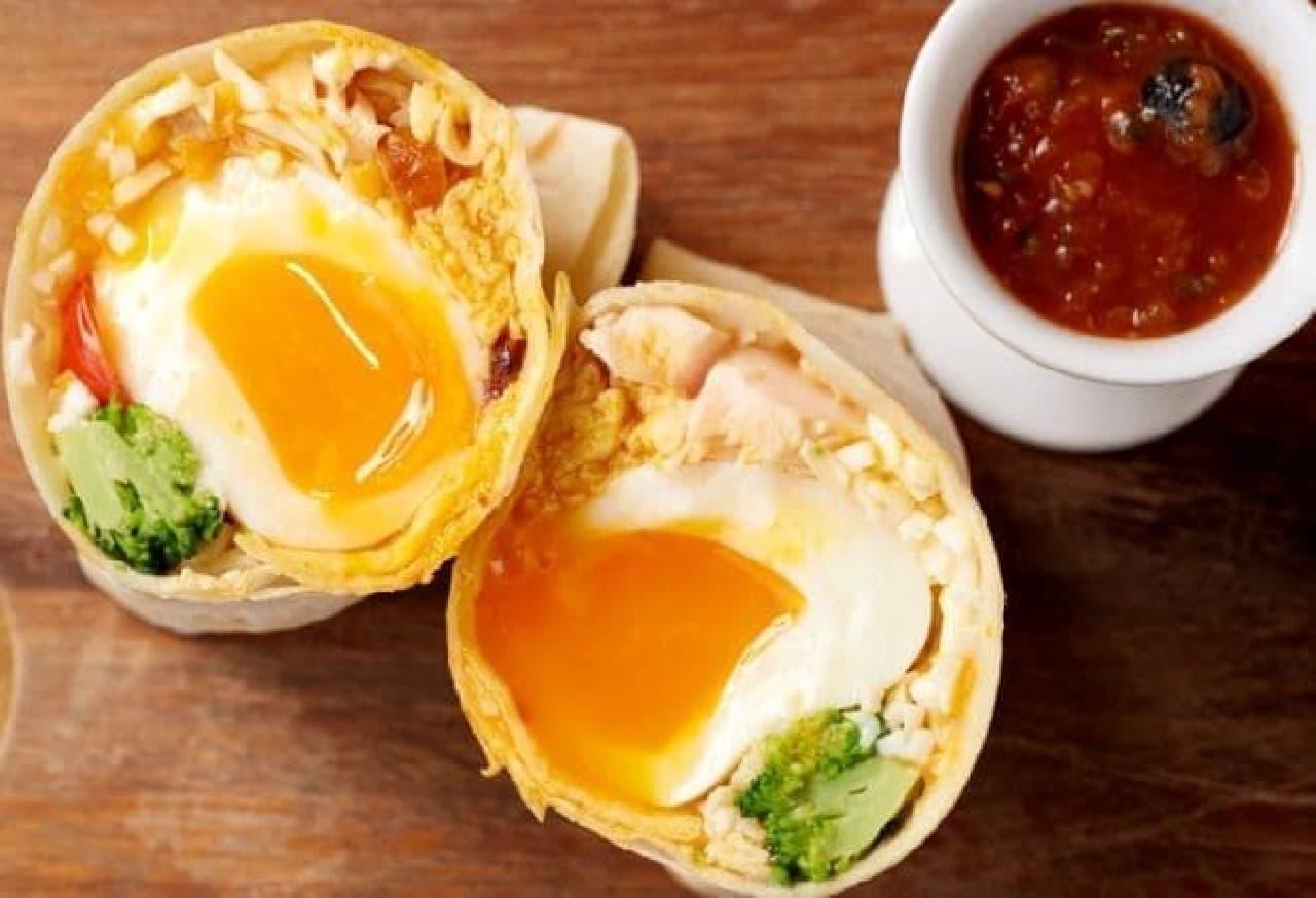 エッグセレント「卵づくしのプロテインブリトー」