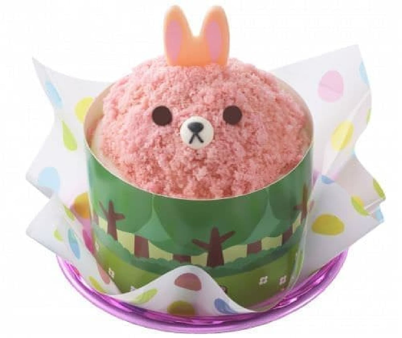 銀座コージーコーナーの上野公園ルエノ店「コージーうさぎさんのケーキ」