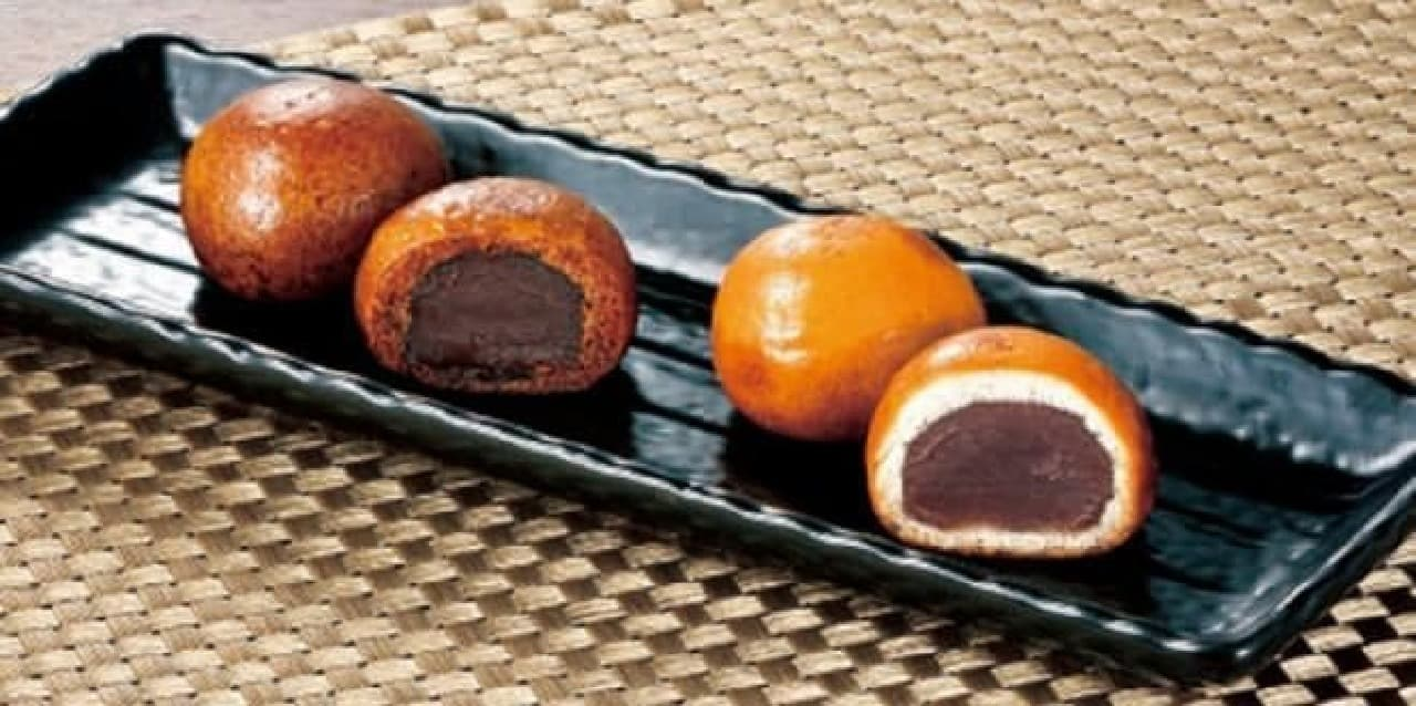 「天ぷら新宿つな八」と「新宿中村屋」が共同開発した「新宿揚げ饅頭」