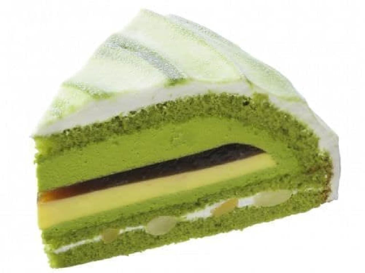 銀座コージーコーナー「抹茶と黒みつのケーキ