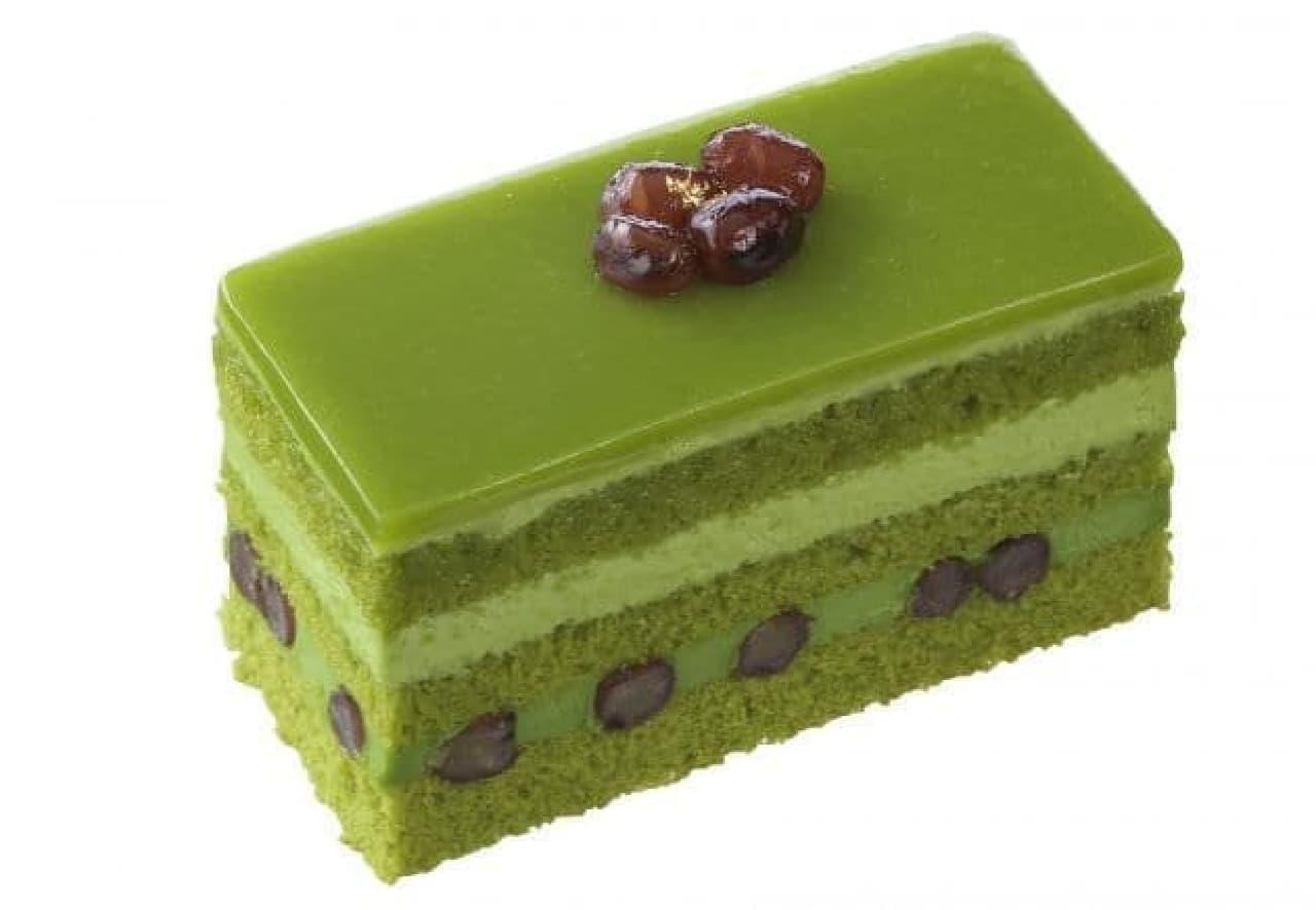 銀座コージーコーナー「抹茶とかのこ豆のケーキ」