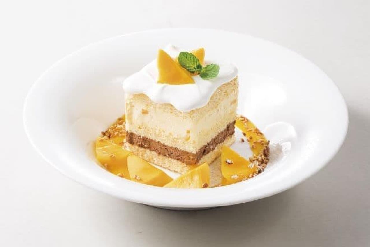 デニーズ「マンゴーのショートケーキ」