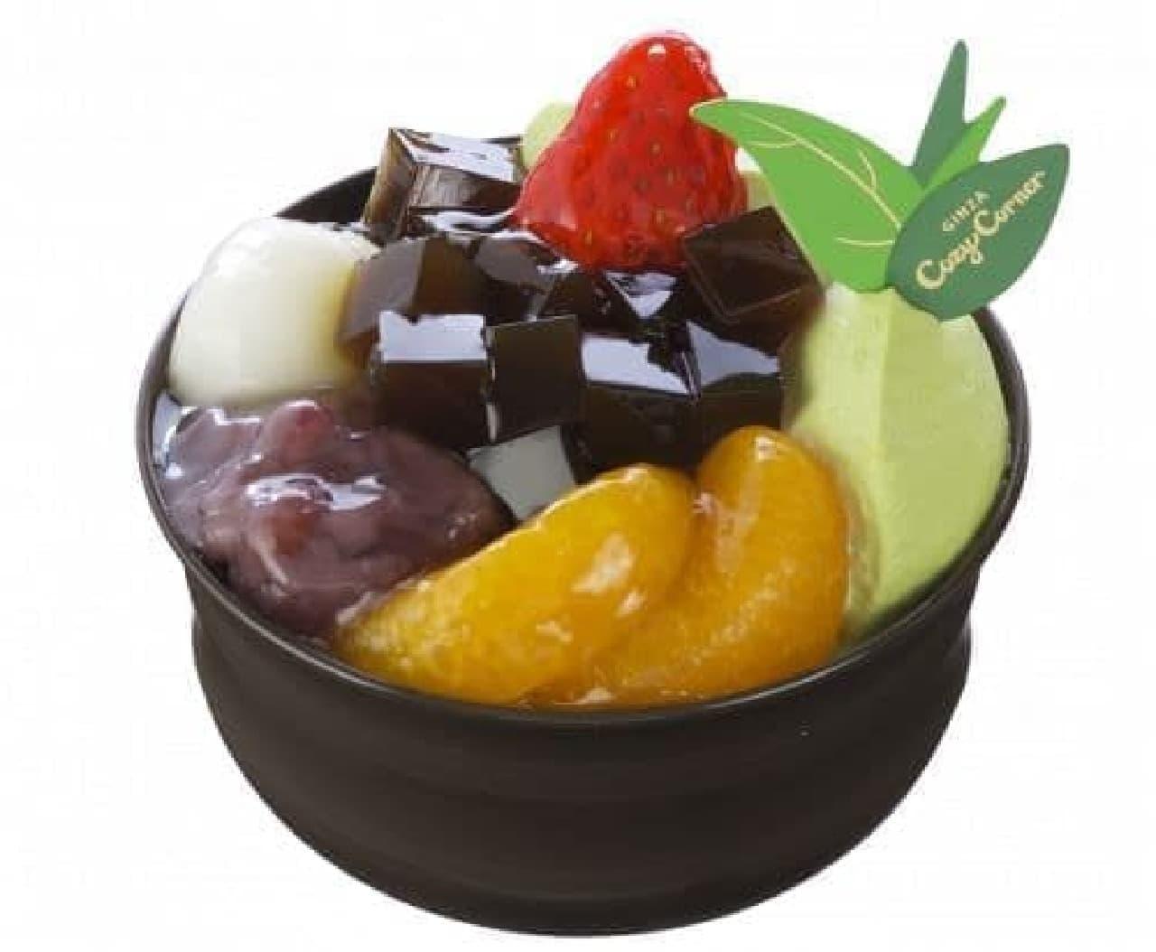 銀座コージーコーナー「抹茶とあずきの和パフェ」