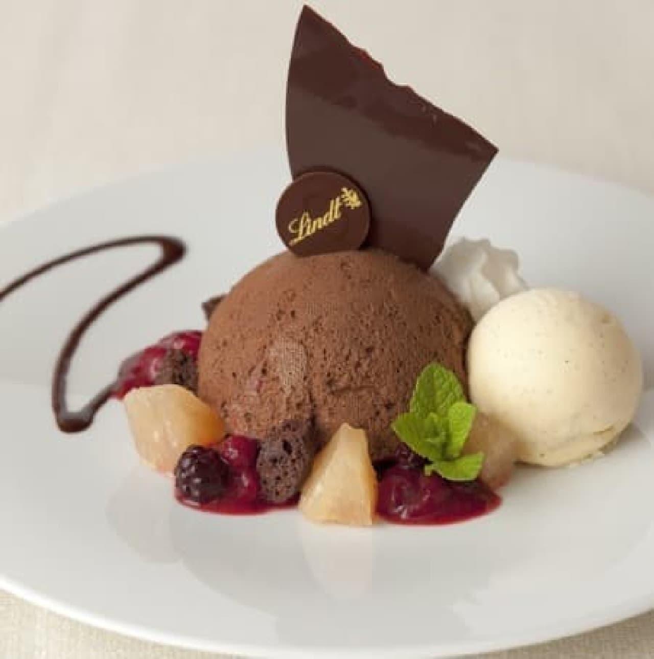 リンツ ショコラ カフェ銀座店「リンツ ムース・オ・ショコラ」