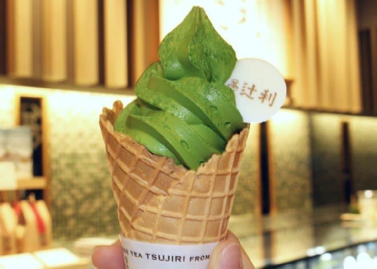 辻利 銀座店「辻利ソフト 濃い茶」