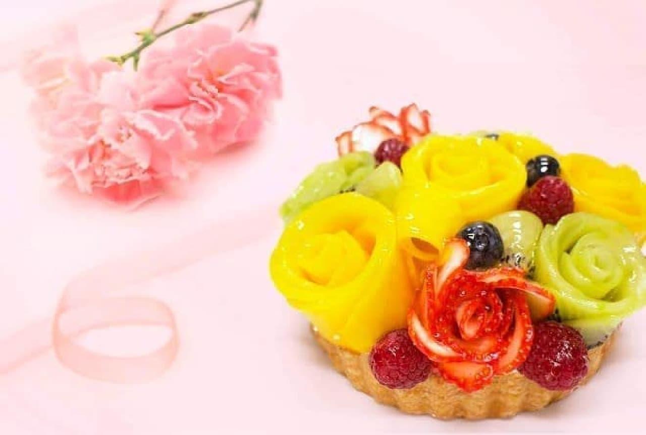 カフェコムサ「母の日ケーキ~フルーツフラワーブーケ~」