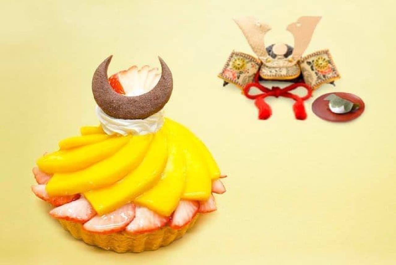 カフェコムサ「こどもの日ケーキ~兜~」