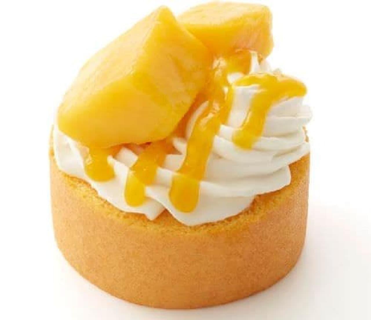 モスバーガー「やさしい豆乳スイーツ マンゴーロールケーキ」