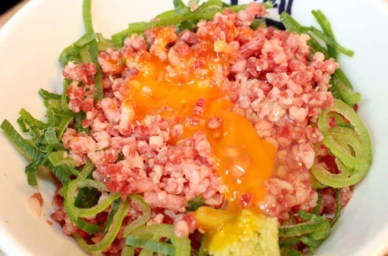 牛角赤坂店「〆の肉とろごはん」