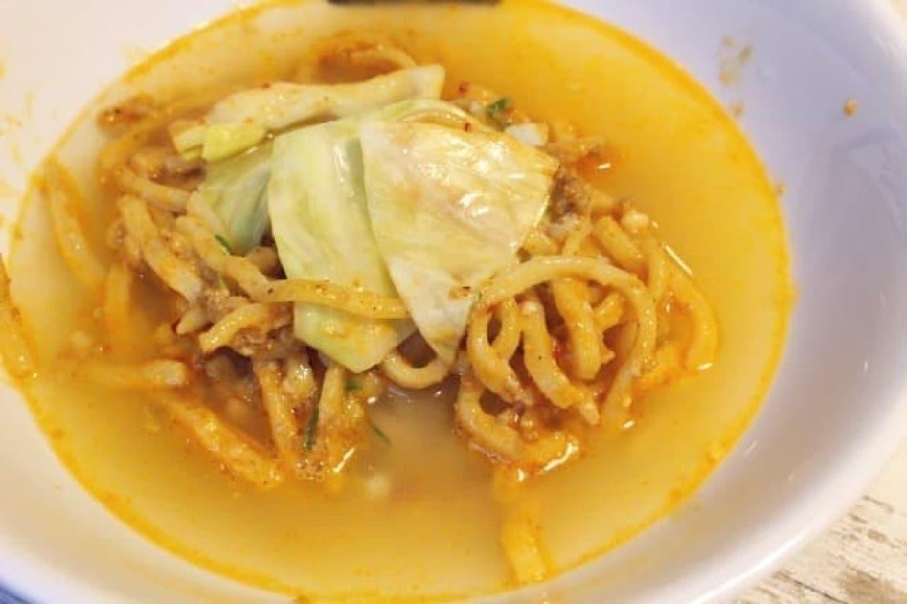 牛角赤坂店「牛角汁なし担々麺」
