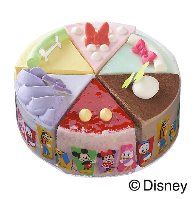 6つの味わいが楽しめるディズニー・キャラクターのアソートケーキ