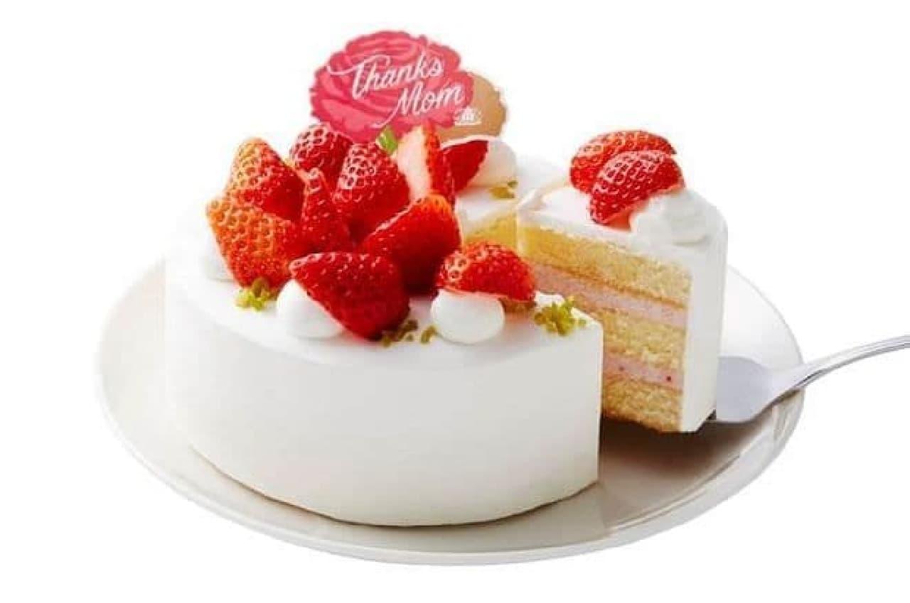 モロゾフ「マザーズデー いちごのケーキ」